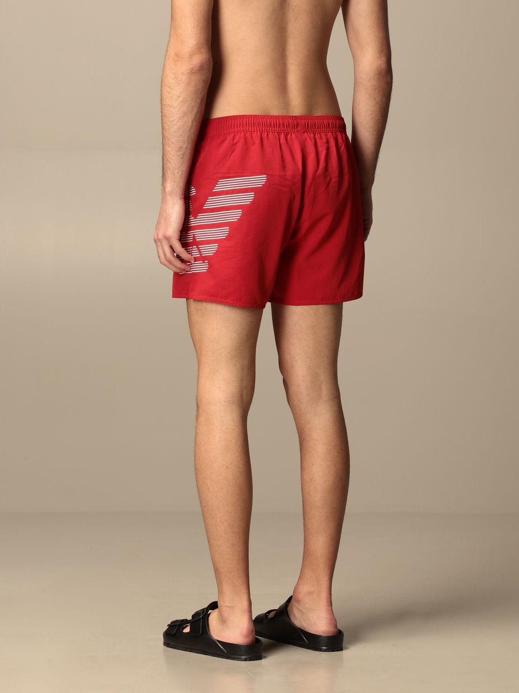 Bañador Emporio Armani Swimwear: Bañador hombre Emporio Armani Swimwear rojo 2