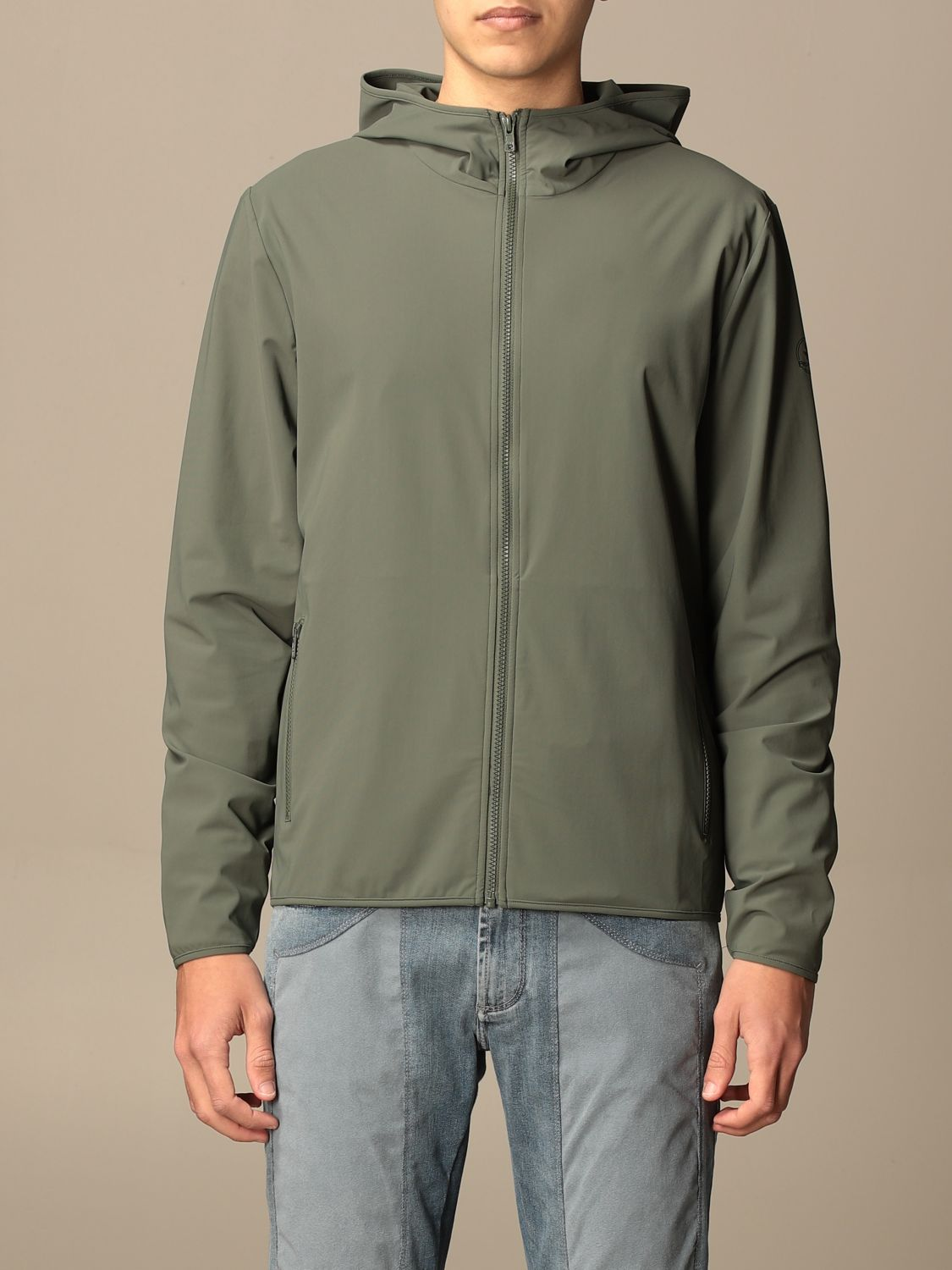 Giacca Pro-Tech By Save The Duck: Giacca con cappuccio Pro-Tech by Save The Duck militare 1