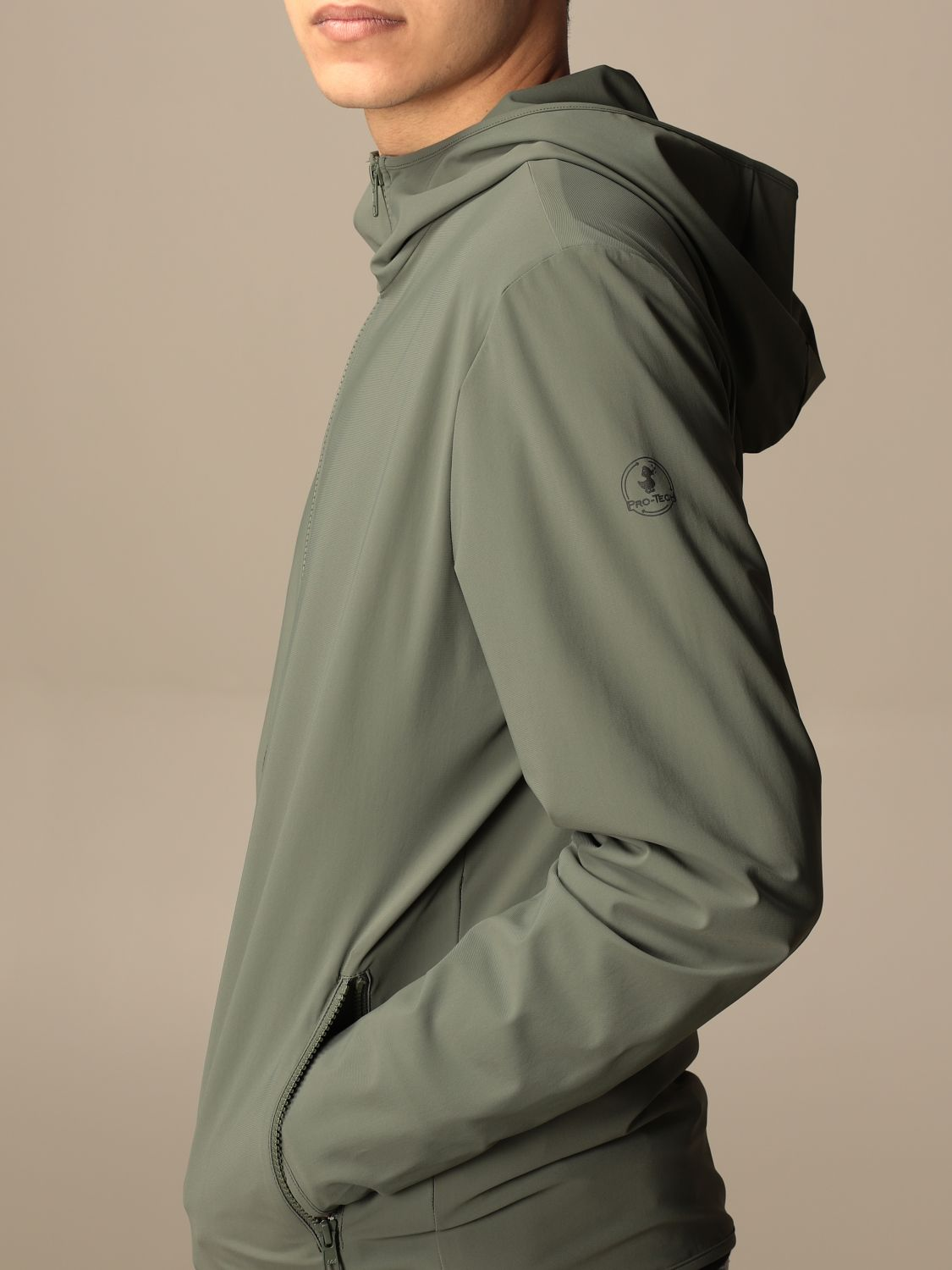 Giacca Pro-Tech By Save The Duck: Giacca con cappuccio Pro-Tech by Save The Duck militare 4