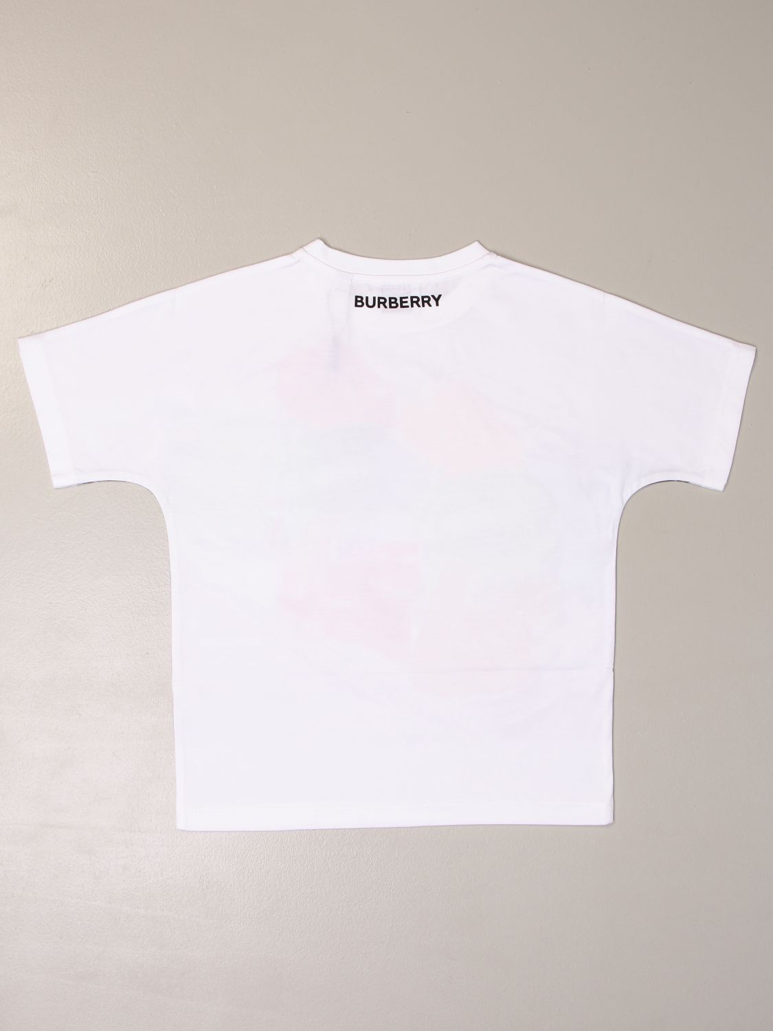 T-shirt Burberry: T-shirt Burberry in cotone con logo caramelle bianco 2