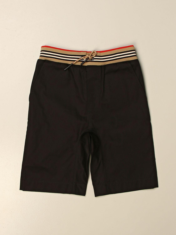 Pantalón corto Burberry: Pantalón corto niños Burberry negro 1