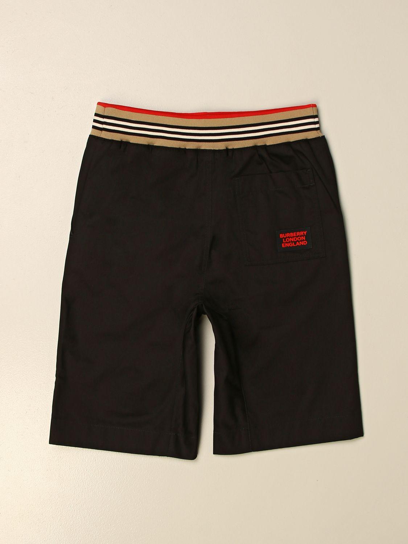 Pantalón corto Burberry: Pantalón corto niños Burberry negro 2