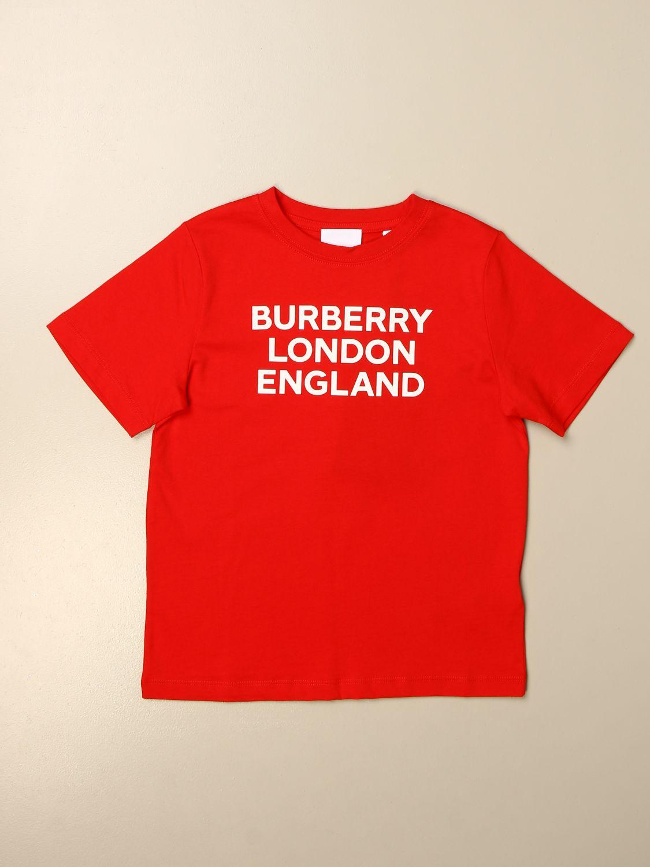 T恤 Burberry: Burberry Logo 棉质T恤 红色 1