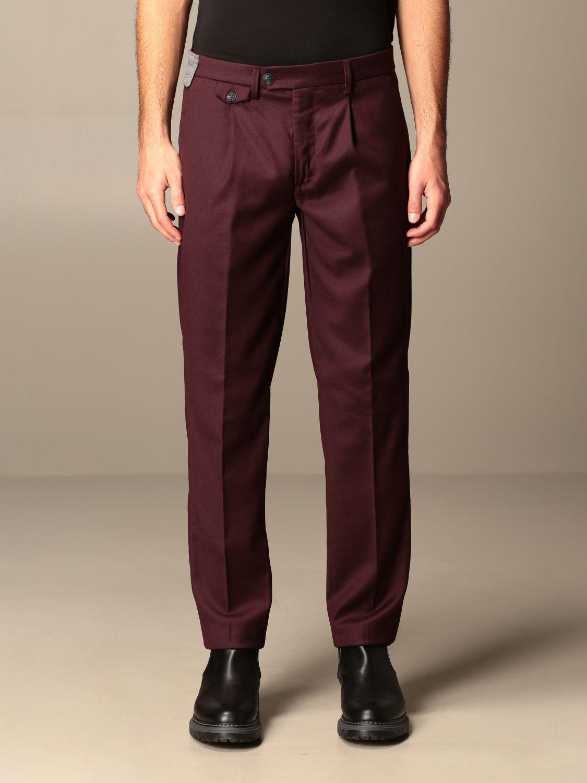 Pantalone Baronio: Pantalone Gallery Baronio con tasche america bordeaux 1