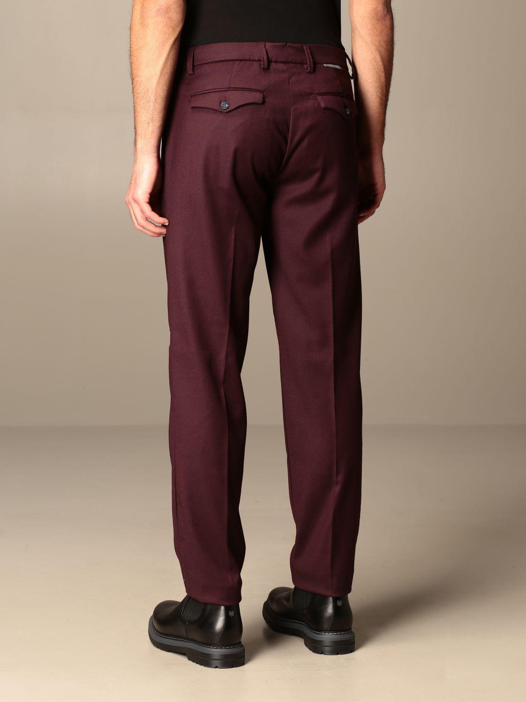 Pantalone Baronio: Pantalone Gallery Baronio con tasche america bordeaux 2