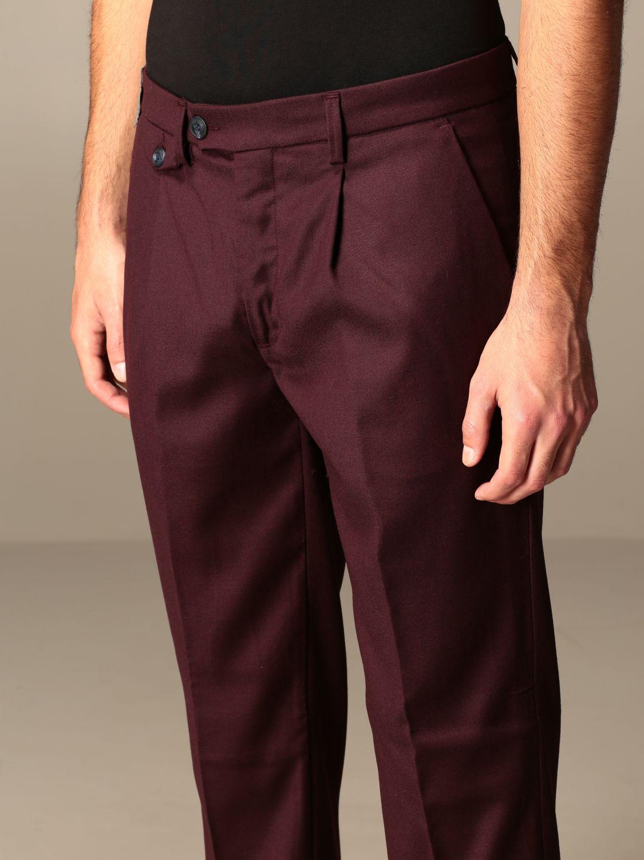 Pantalone Baronio: Pantalone Gallery Baronio con tasche america bordeaux 3