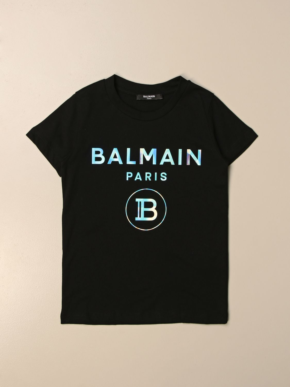 Camiseta Balmain: Camiseta niños Balmain negro 1