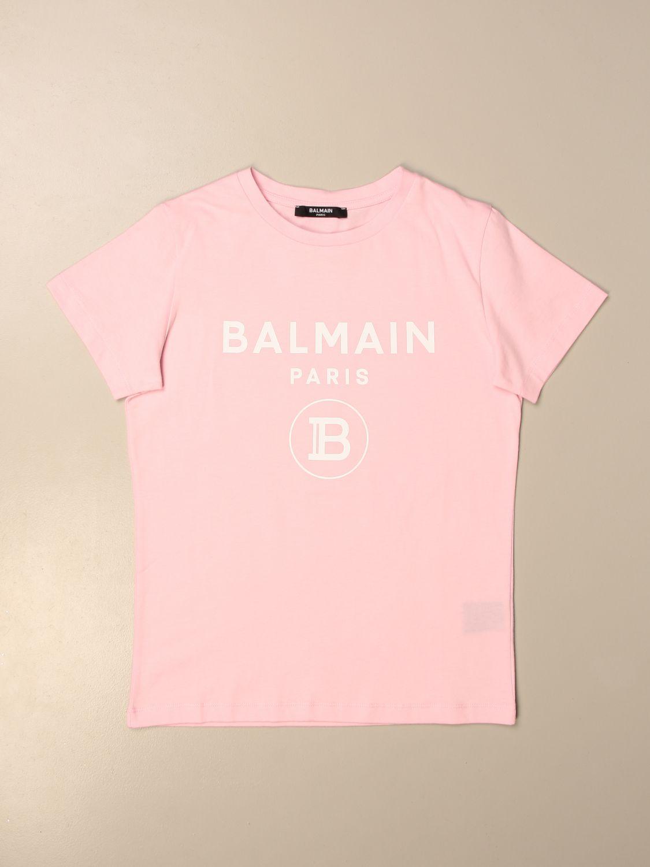 Camiseta Balmain: Camiseta niños Balmain rosa 1