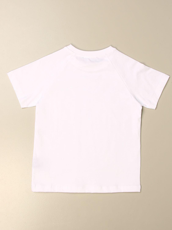 T-shirt Balmain: T-shirt Balmain in cotone con logo metallizzato bianco 1 2