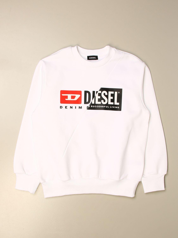 Jersey Diesel: Jersey niños Diesel blanco 1