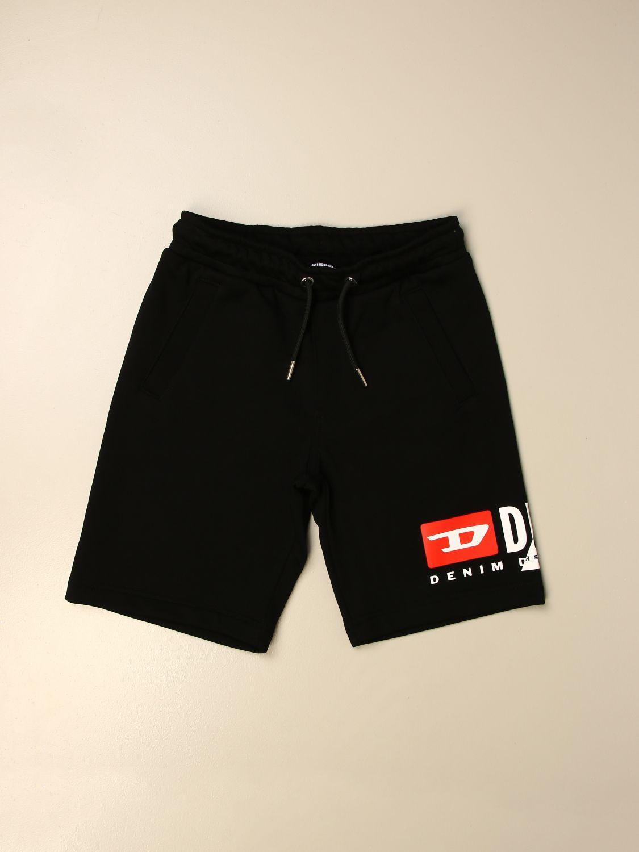 Pantalón corto Diesel: Pantalón corto niños Diesel negro 1