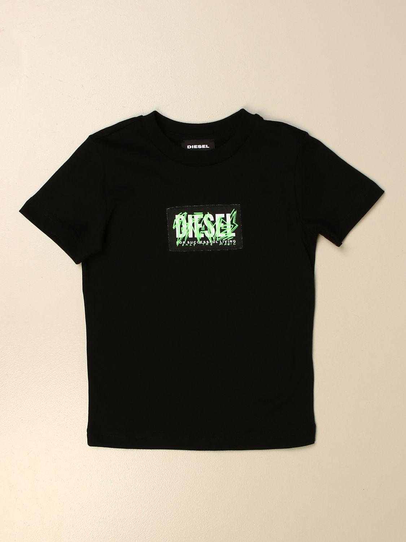 T-Shirt Diesel: T-shirt kinder Diesel schwarz 1