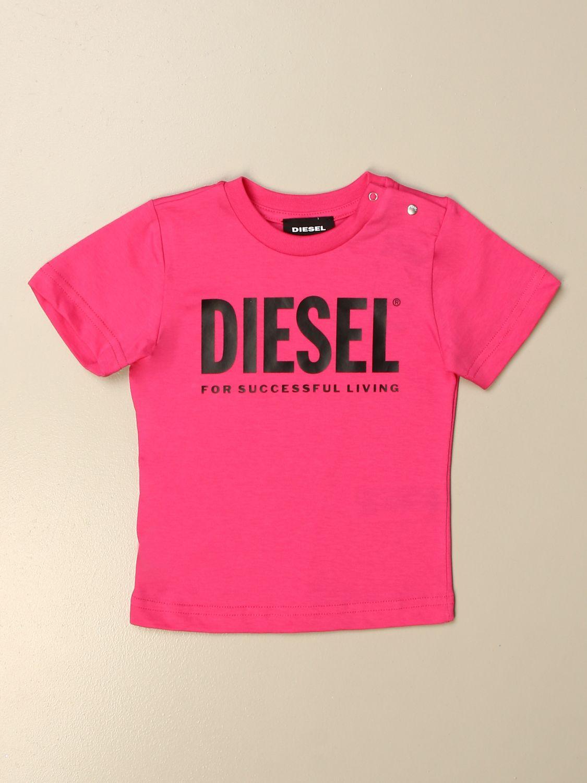 Camiseta Diesel: Camiseta niños Diesel fucsia 1