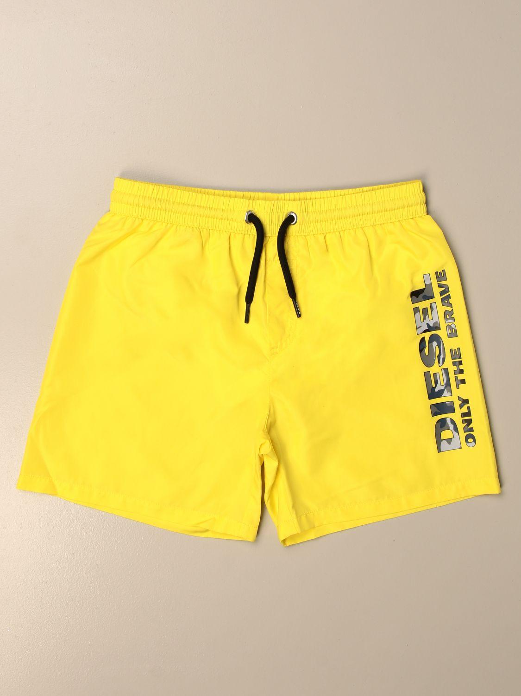 Costume Diesel: Costume a boxer Diesel con logo giallo 1