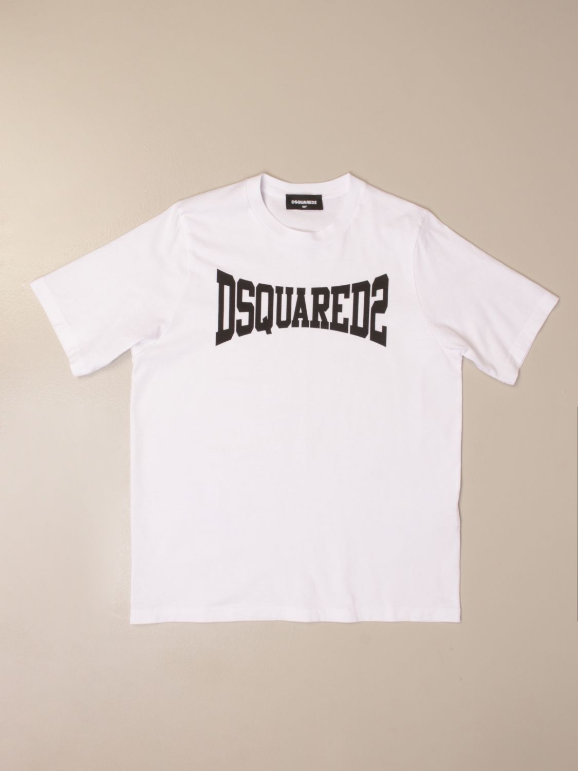 T-shirt Dsquared2 Junior: Dsquared2 Junior T-shirt in cotton with logo white 1