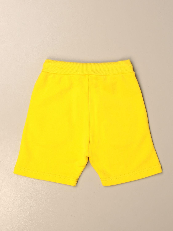 Pantaloncino Dsquared2 Junior: Pantaloncino jogging Dsquared2 Junior con logo giallo 2