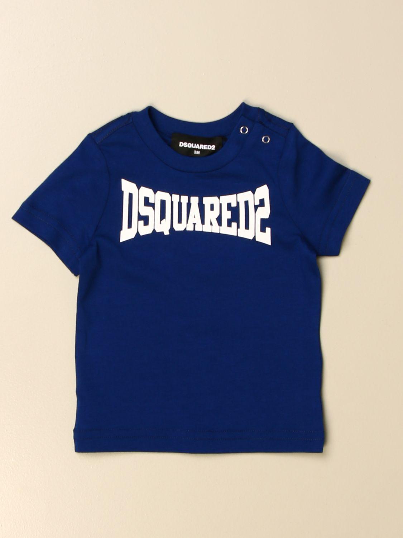 T-shirt Dsquared2 Junior: T-shirt Dsquared2 Junior in cotone con logo royal 1