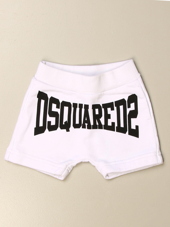 Pantaloncini Dsquared2 Junior: Pantaloncino jogging Dsquared2 Junior con logo bianco 1