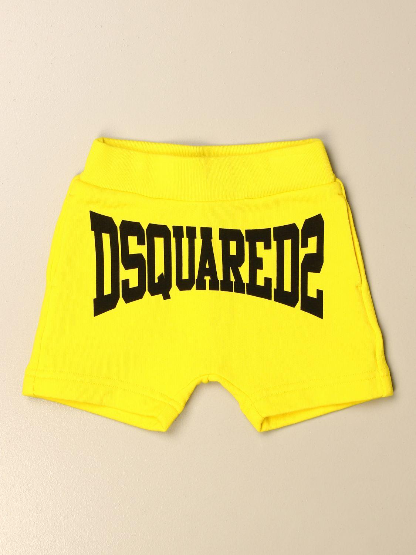 Pantaloncini Dsquared2 Junior: Pantaloncino jogging Dsquared2 Junior con logo giallo 1