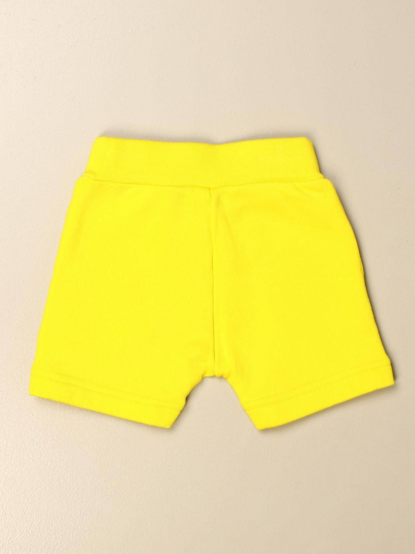 Pantaloncini Dsquared2 Junior: Pantaloncino jogging Dsquared2 Junior con logo giallo 2