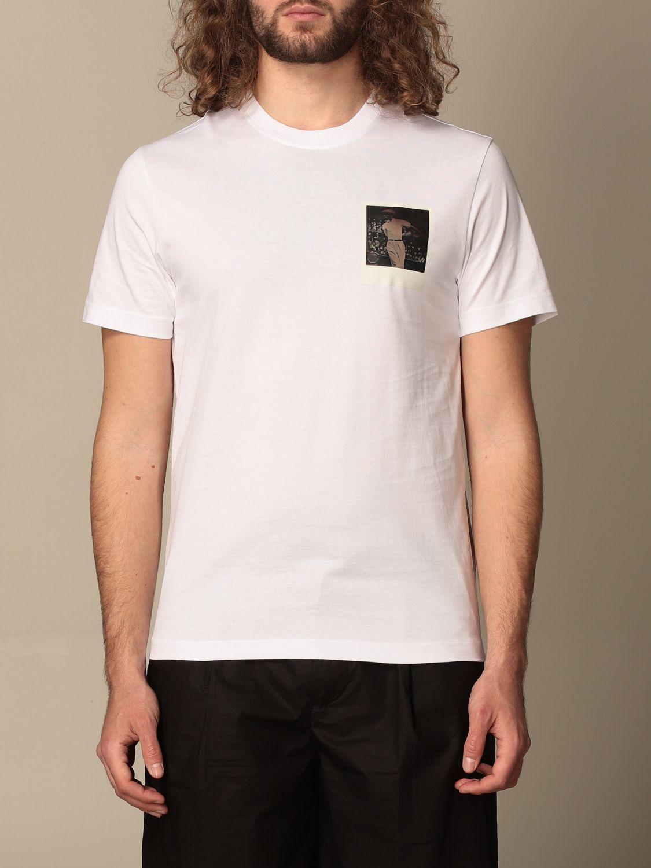 Camiseta Lacoste X Polaroid: Camiseta hombre Lacoste X Polaroid blanco 1