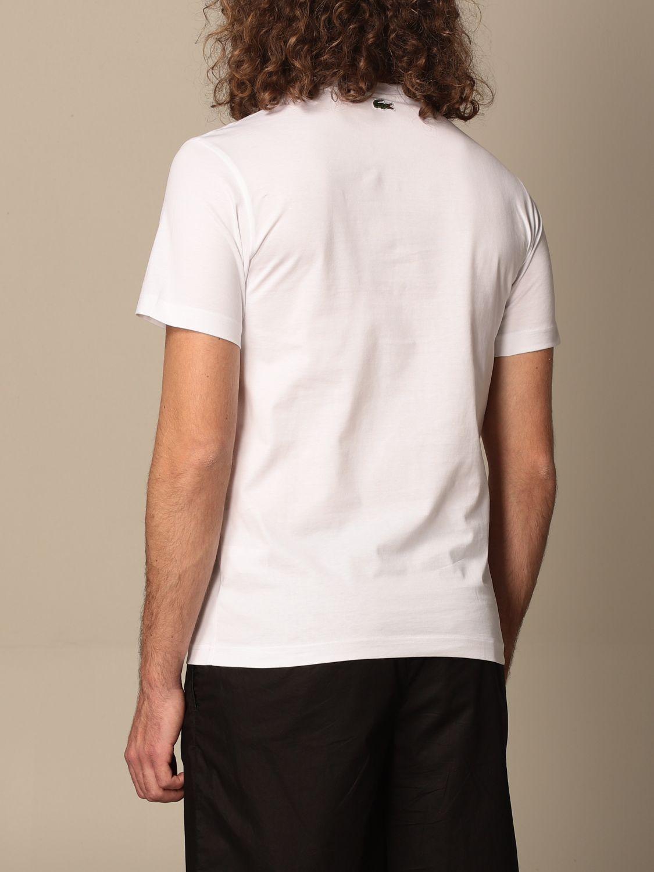Camiseta Lacoste X Polaroid: Camiseta hombre Lacoste X Polaroid blanco 2