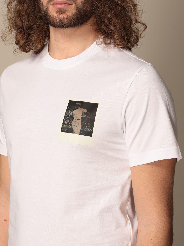 Camiseta Lacoste X Polaroid: Camiseta hombre Lacoste X Polaroid blanco 3