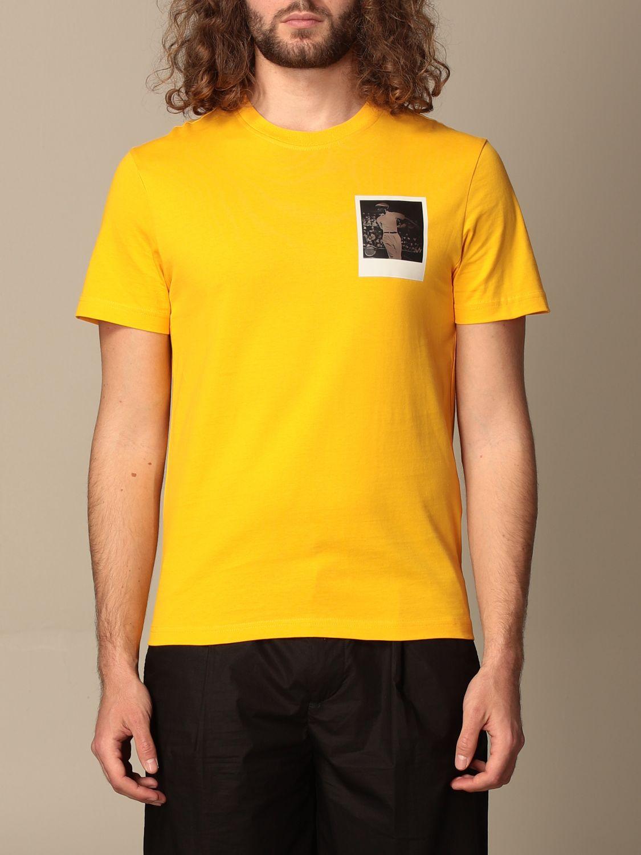 Camiseta Lacoste X Polaroid: Camiseta hombre Lacoste X Polaroid amarillo 1