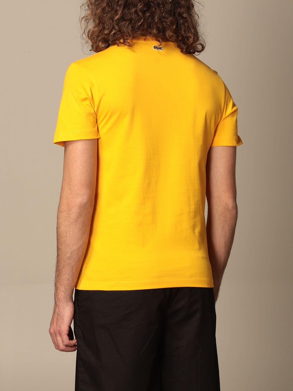 Camiseta Lacoste X Polaroid: Camiseta hombre Lacoste X Polaroid amarillo 2