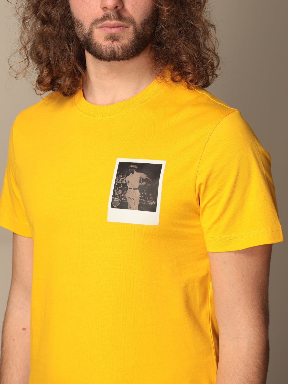 Camiseta Lacoste X Polaroid: Camiseta hombre Lacoste X Polaroid amarillo 3