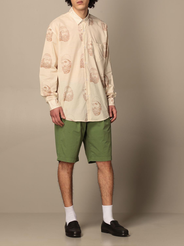 Shirt Paura Di Danilo Paura: Paura shirt by Danilo Paura with pattern yellow cream 2