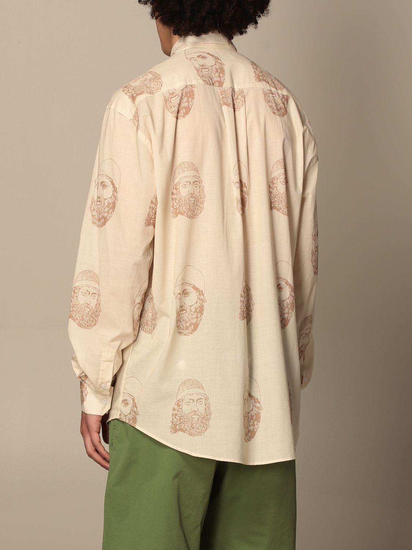 Shirt Paura Di Danilo Paura: Paura shirt by Danilo Paura with pattern yellow cream 3