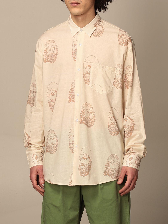 Shirt Paura Di Danilo Paura: Paura shirt by Danilo Paura with pattern yellow cream 4
