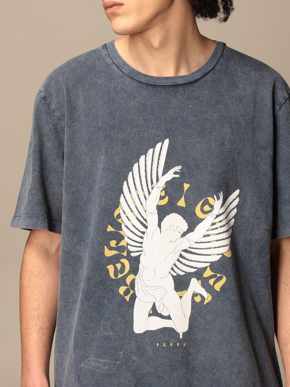 T-shirt Paura Di Danilo Paura: T-shirt homme Paura Di Danilo Paura bleu marine 5