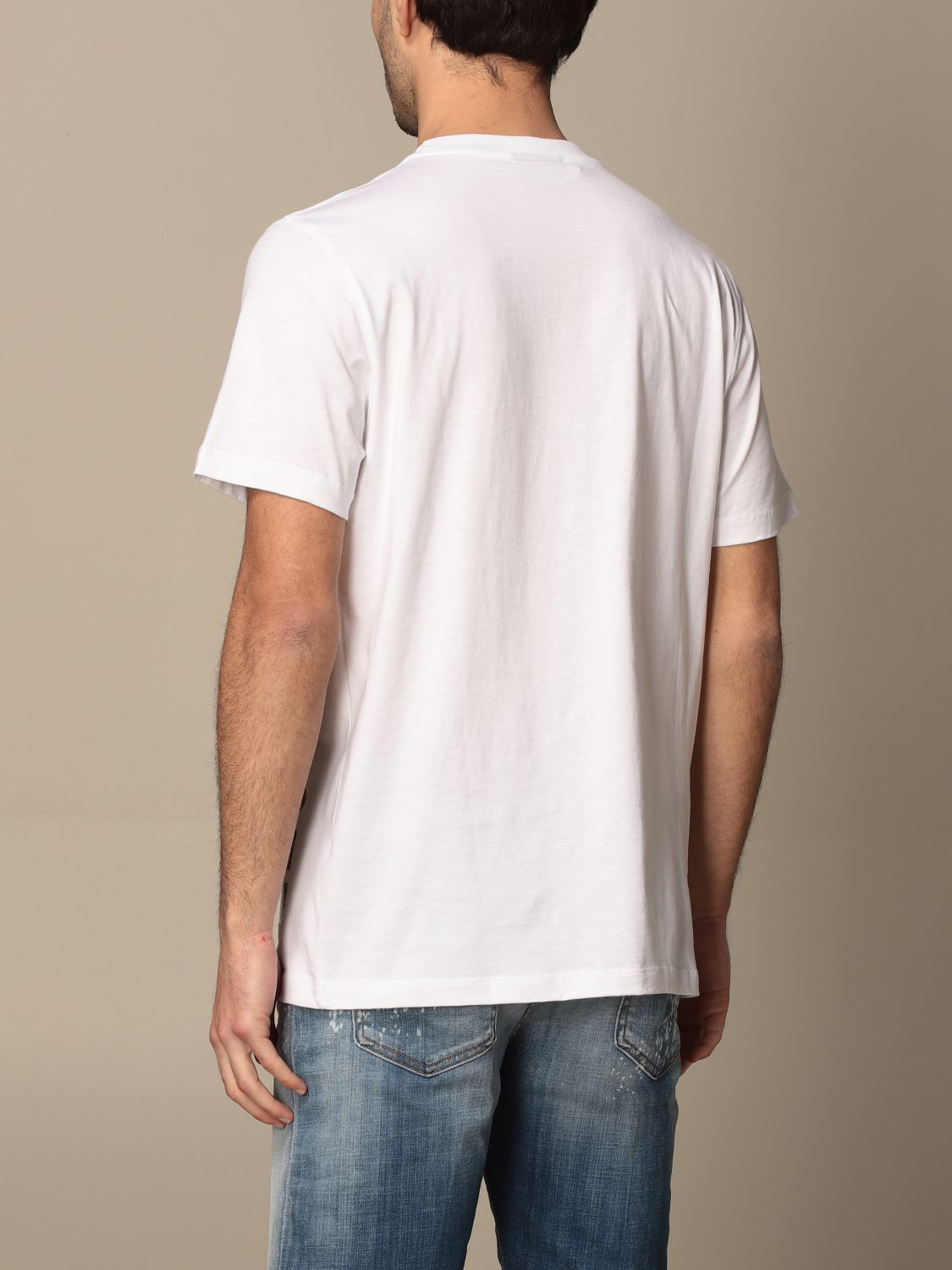T-shirt Disclaimer: Dislaimer t-shirt in cotton with print white 2