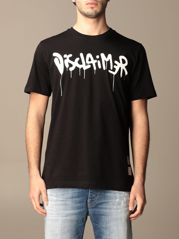 T-shirt Disclaimer: T-shirt homme Dislaimer noir 1