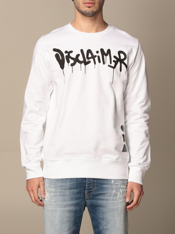 Sweatshirt Disclaimer: Sweatshirt homme Dislaimer blanc 1