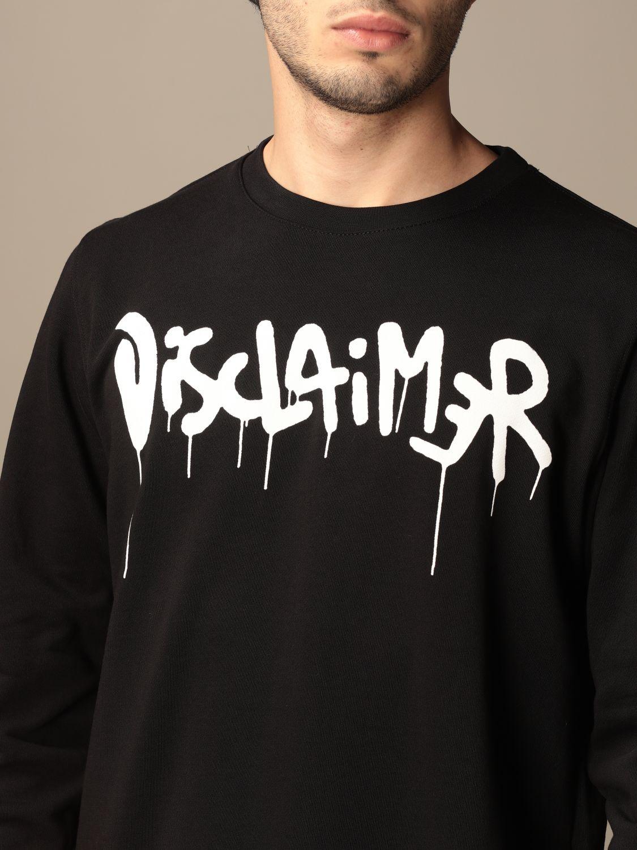 Sweatshirt Disclaimer: Sweatshirt homme Dislaimer noir 3
