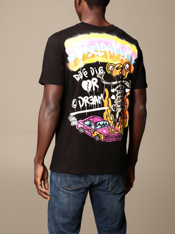 T-shirt Disclaimer: T-shirt homme Dislaimer noir 2