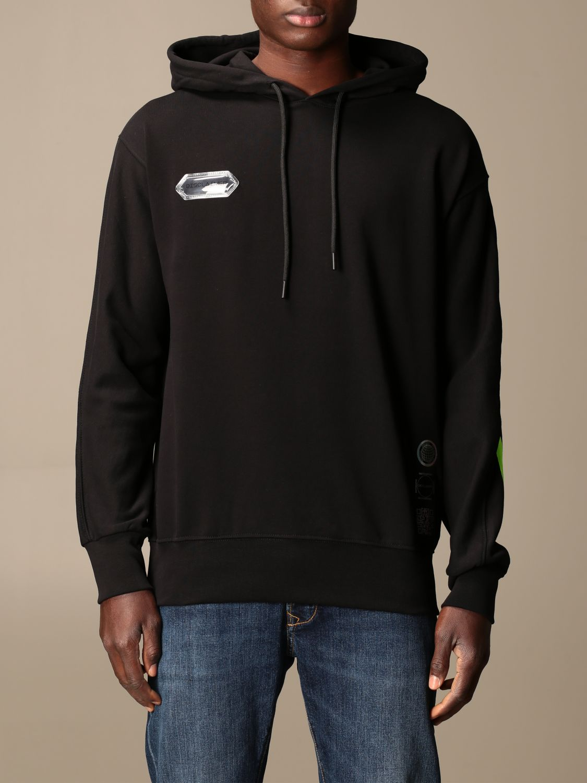 Sweatshirt Disclaimer: Sweatshirt homme Dislaimer noir 1 1