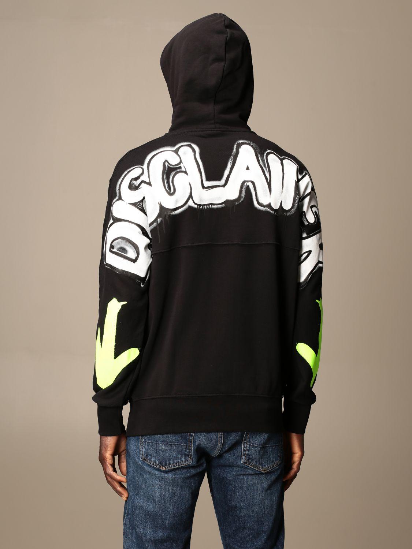 Sweatshirt Disclaimer: Sweatshirt homme Dislaimer noir 1 2