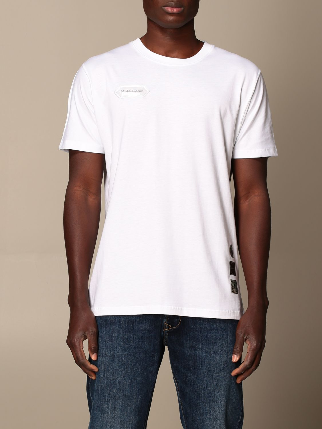 T-shirt Disclaimer: Dislaimer T-shirt in cotton with back print white 1