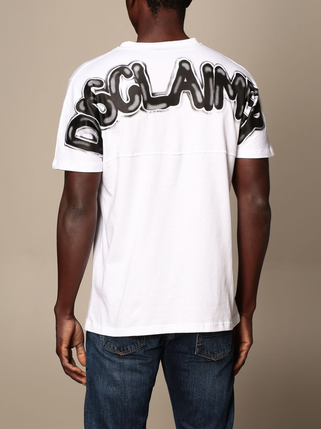 T-shirt Disclaimer: Dislaimer T-shirt in cotton with back print white 2