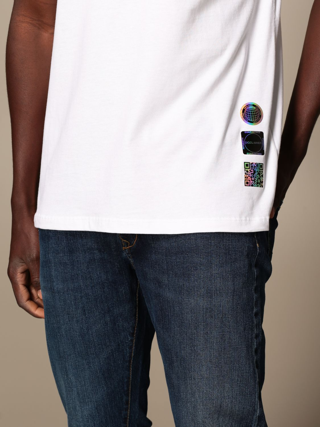 T-shirt Disclaimer: Dislaimer T-shirt in cotton with back print white 3