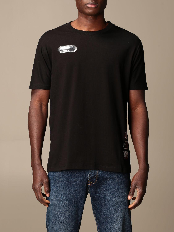 T-shirt Disclaimer: Dislaimer T-shirt in cotton with back print black 1
