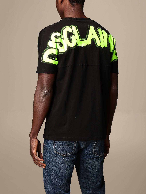 T-shirt Disclaimer: Dislaimer T-shirt in cotton with back print black 2