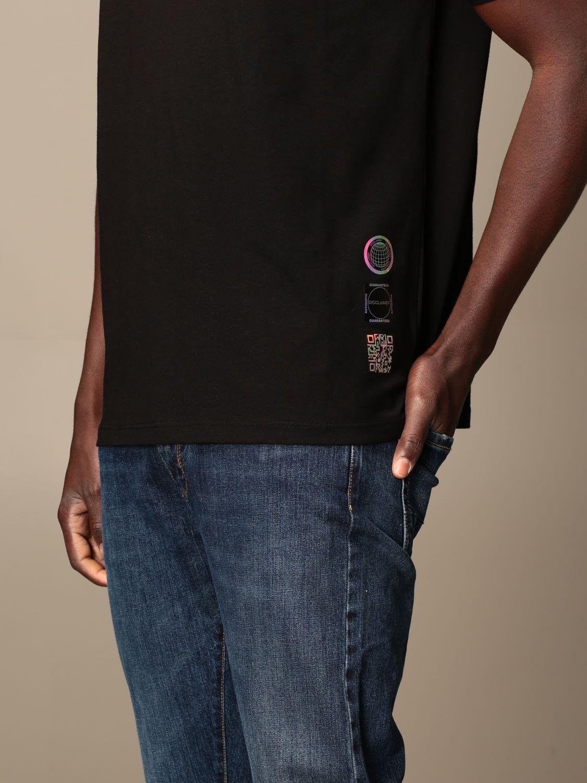 T-shirt Disclaimer: Dislaimer T-shirt in cotton with back print black 3