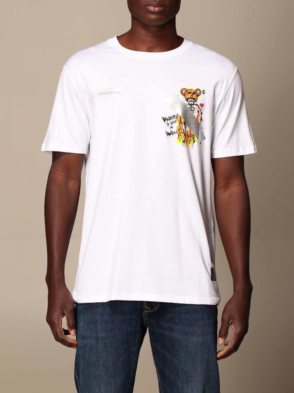 T-shirt Disclaimer: Dislaimer cotton t-shirt with print white 1
