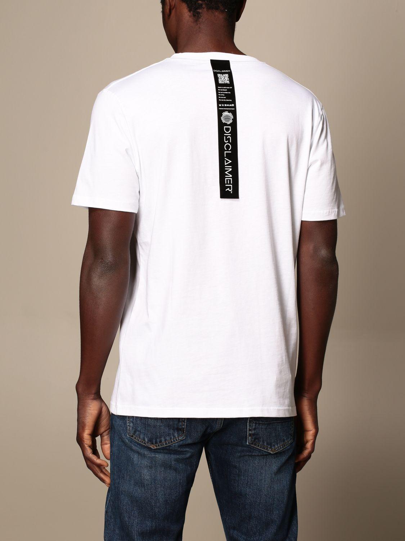 T-shirt Disclaimer: Dislaimer cotton t-shirt with print white 2