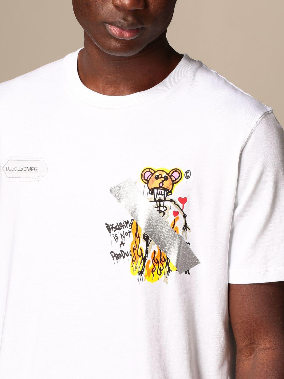 T-shirt Disclaimer: Dislaimer cotton t-shirt with print white 3